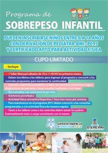 Folleto PROGRAMA DE SOBREPESO INFANTIL para WEB - MARZO 2015